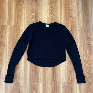 Cabi Prep Pullover Ribbed Cropped Sweater Size m